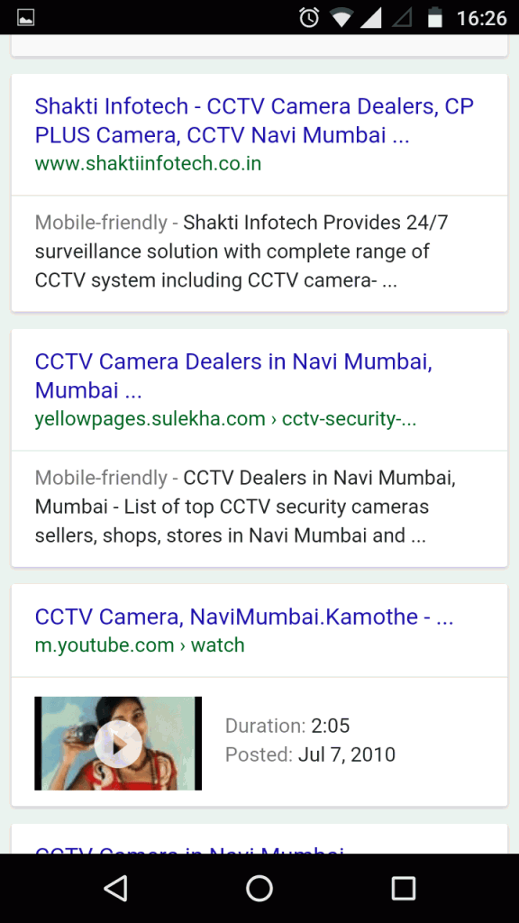 Google new interface for product search term - mobile SERP 2