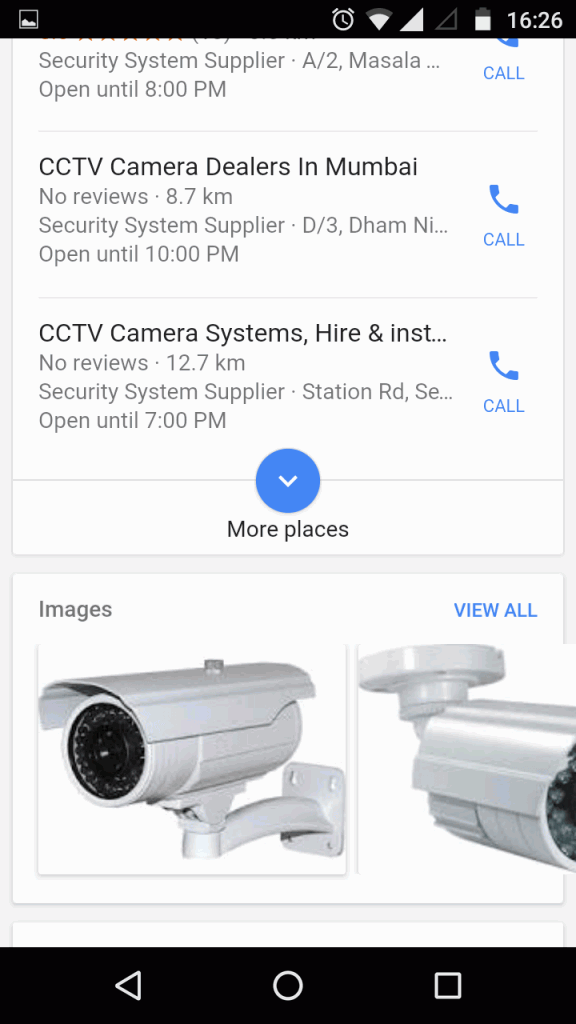 Google new interface for product search term - mobile SERP